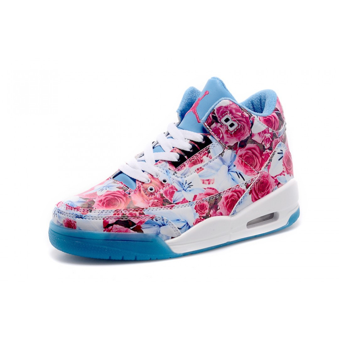 Womens Air Jordan 3 blue floral 2015